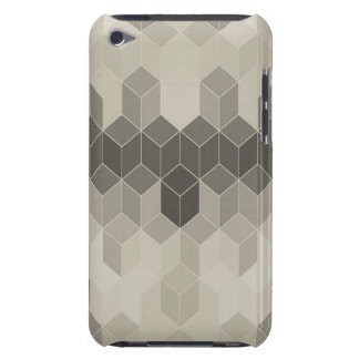 Grey Scale Cube Geometric Design Barely There iPod Cover