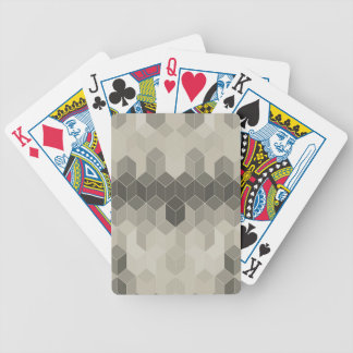 Grey Scale Cube Geometric Design Bicycle Playing Cards