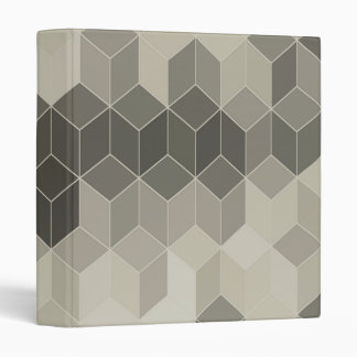 Grey Scale Cube Geometric Design Binders