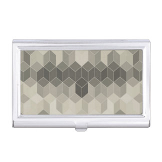 Grey Scale Cube Geometric Design Business Card Holder