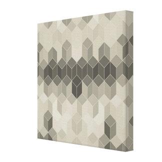 Grey Scale Cube Geometric Design Canvas Print