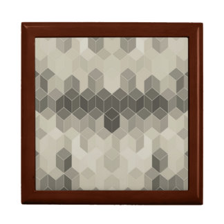Grey Scale Cube Geometric Design Gift Box
