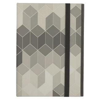Grey Scale Cube Geometric Design iPad Air Case
