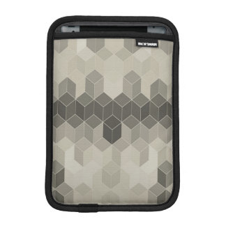 Grey Scale Cube Geometric Design iPad Mini Sleeve
