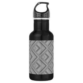 Grey scale pattern 532 ml water bottle