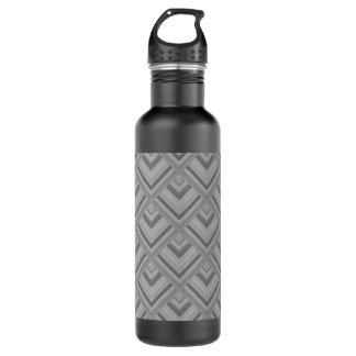 Grey scale pattern 710 ml water bottle