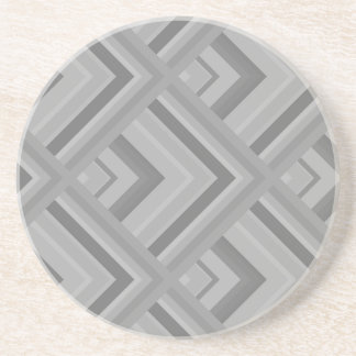 Grey scale pattern coaster