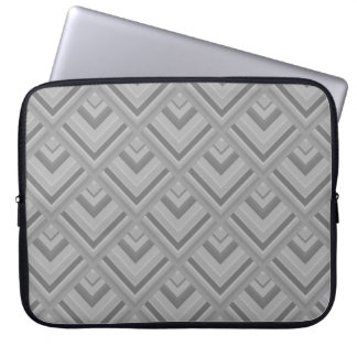 Grey scale pattern laptop sleeve