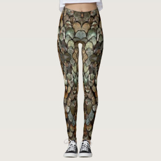 Grey Scales Leggings