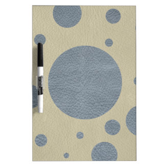 Grey Scattered Spots on Stone Leather print Dry Erase White Board