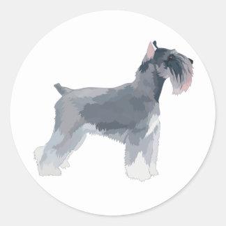 Grey Schnauzer Round Sticker
