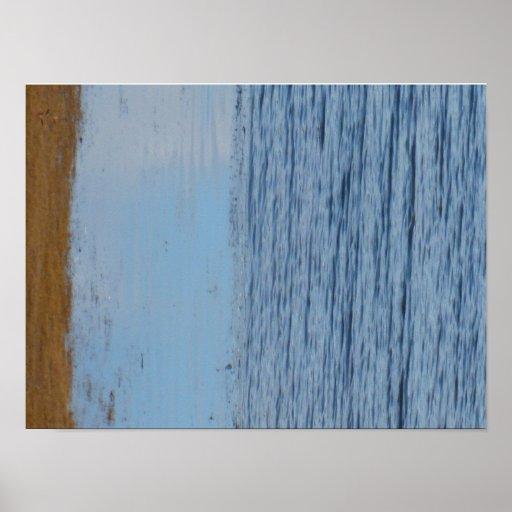 Grey seabird left poster