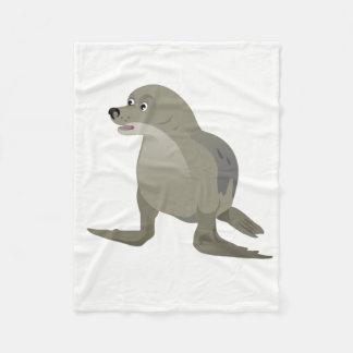 Grey Seal Fleece Blanket