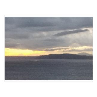 Grey Seattle Sunset Postcard