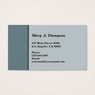 Grey side border business card