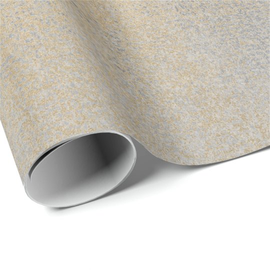 Grey Silver  Champaign Sepia Foxier Gold Abstract Wrapping Paper