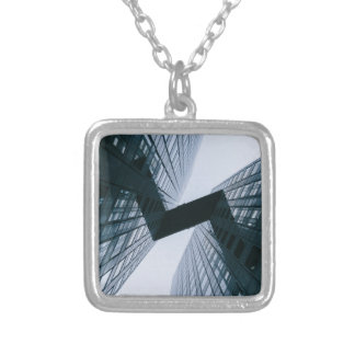 Grey Silver Plated Necklace
