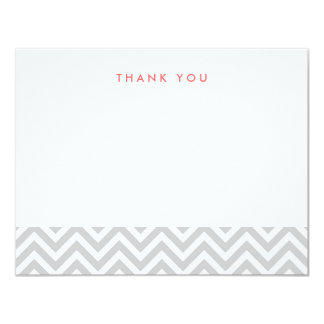 Grey Simple Chevron Thank You Note Cards