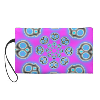 Grey Skies Alien Invasion wristlet purse