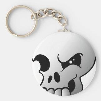 Grey Skull Keychain