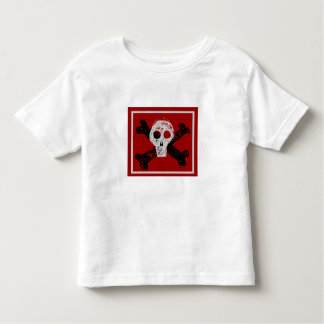 grey skull pirate flag toddler t-shirt