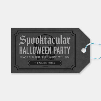 Grey Skull Spooktacular Halloween Party Pack Of Gift Tags