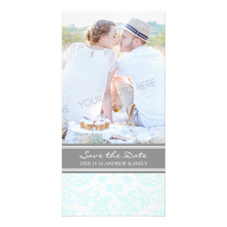 Grey Sky Blue Save the Date Wedding Photo Cards