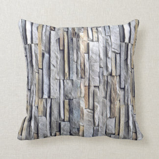 Grey Slate Bricks accent Throw Pillow