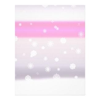 Grey Snow Fade Customized Letterhead