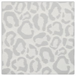 Grey Snow Leopard Animal Print Large Scale Fabric