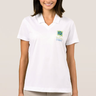 Grey Social Fabric Half Zip Polo Shirt