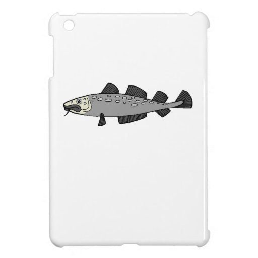Grey Spotted Fish iPad Mini Cover