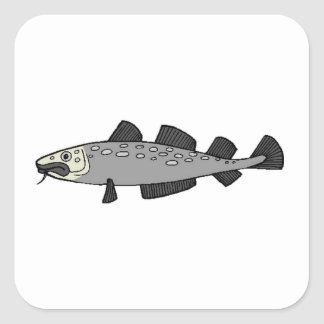 Grey Spotted Fish Sticker