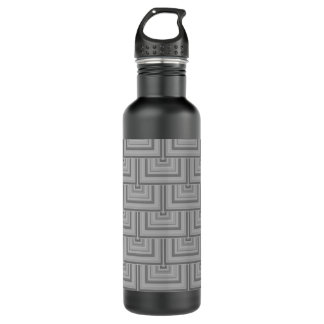 Grey square scales 710 ml water bottle