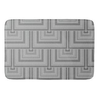Grey square scales bathroom mat