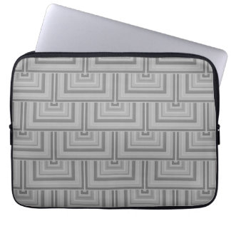 Grey square scales computer sleeves