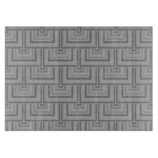 Grey square scales cutting board