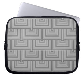 Grey square scales laptop sleeves