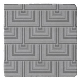 Grey square scales trivet