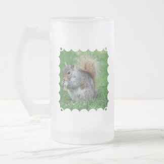 Grey Squirrel Frosted Beer Mug