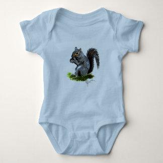 Grey Squirrel Infatn Onsie Creeper