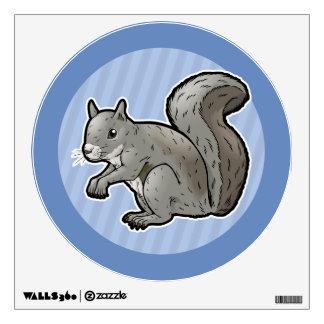 Grey Squirrel Wall Sticker
