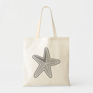 Grey Starfish Canvas Bags