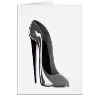 Grey Stiletto Shoe Card