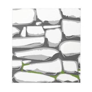 Grey Stone Wall Notepad