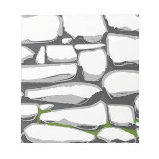 Grey Stone Wall Notepads