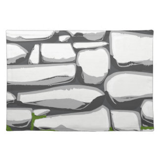 Grey Stone Wall Placemat