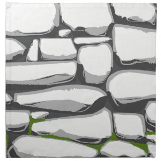 Grey Stone Wall Printed Napkins