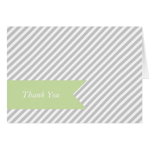 Grey Stripe Blank Note Cards