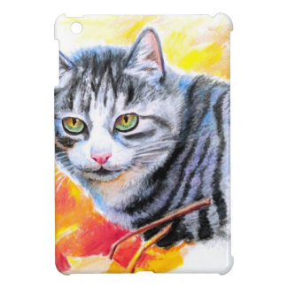 Grey Striped Cat Cover For The iPad Mini